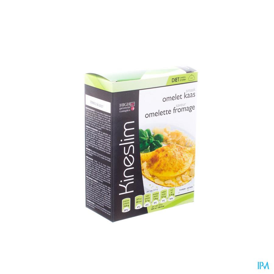 Kineslim Omelet Met Kaas Pdr 4x27,5g