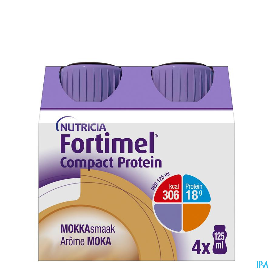 Fortimel Compact Protein Mokka Flesjes 4x125 ml