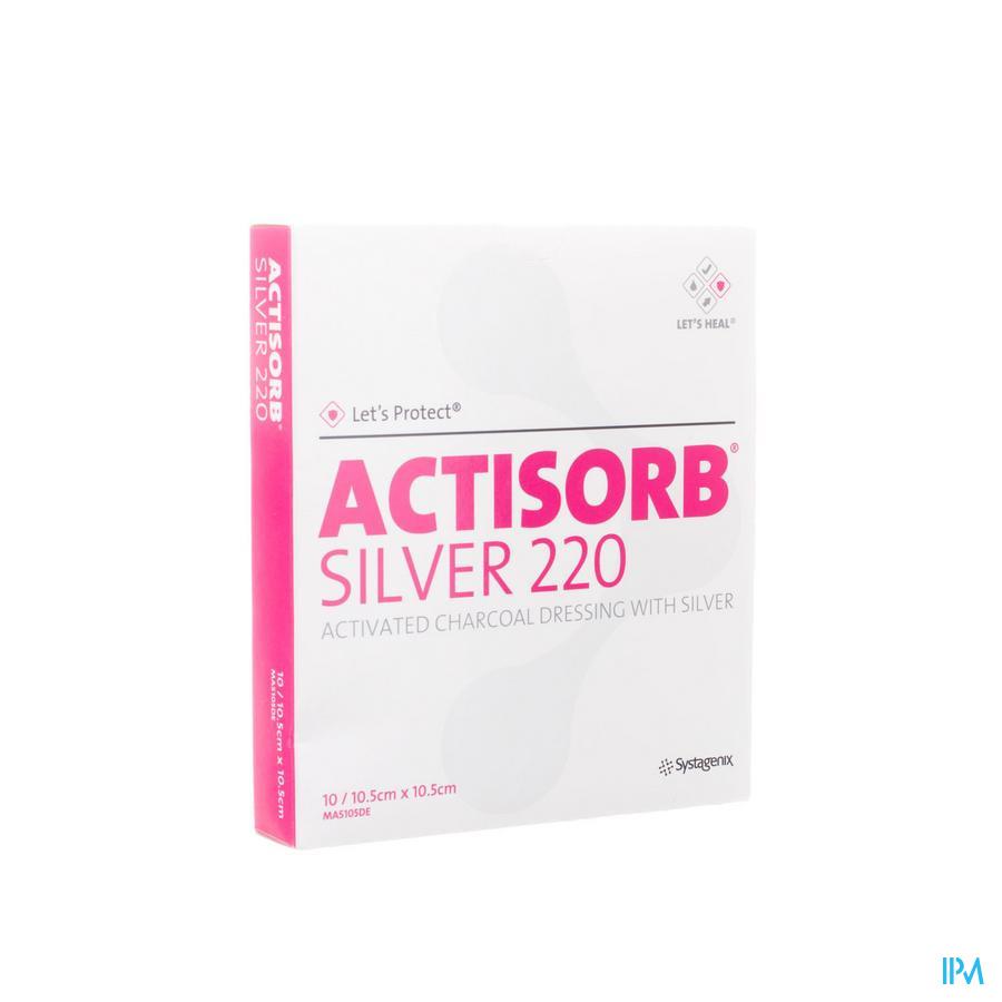 Actisorb Silver 220 Cp 10,5x10,5cm 10 Mas105de