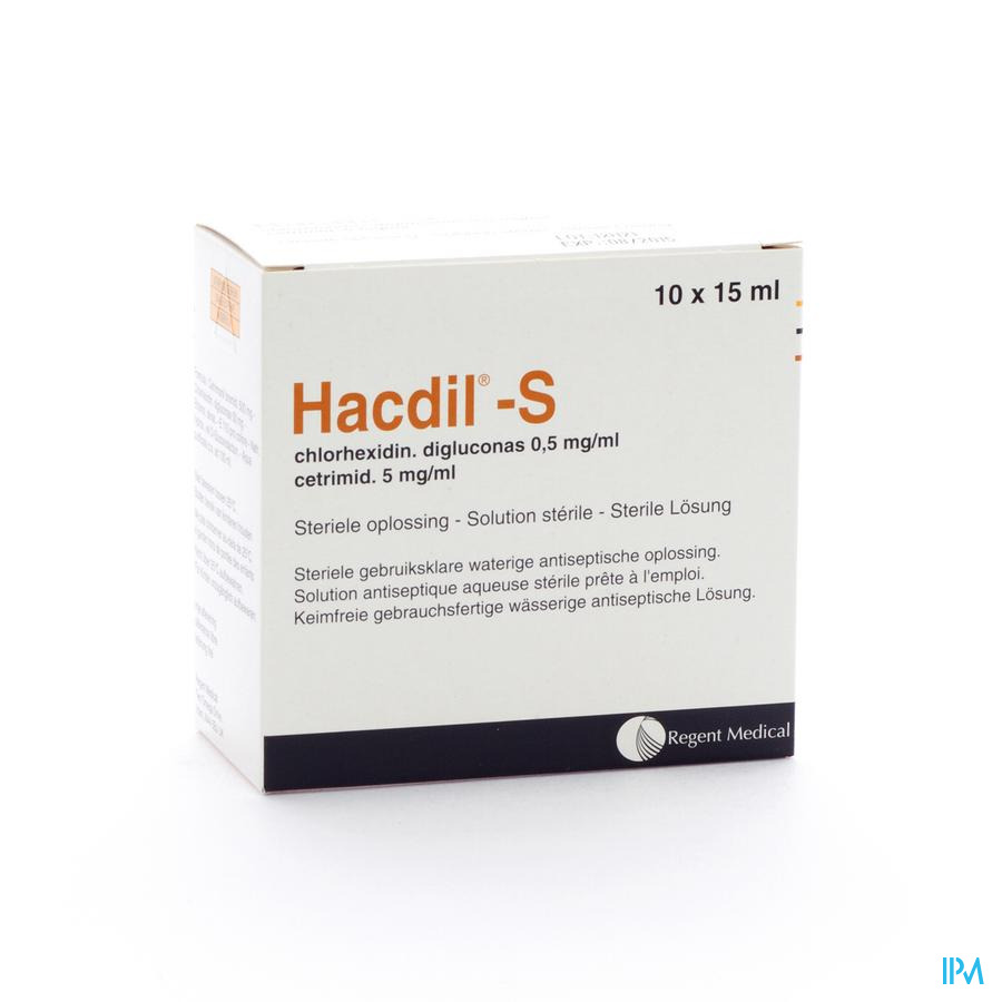 Hacdil-s 10x 15 ml Ud Bottelpack  -  Molnlycke Healthcare