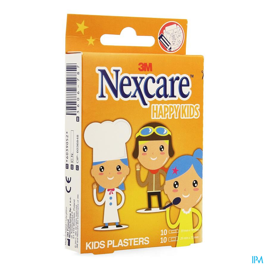 Nexcare 3m Happy Kids Professions Pans 20 N0920pr