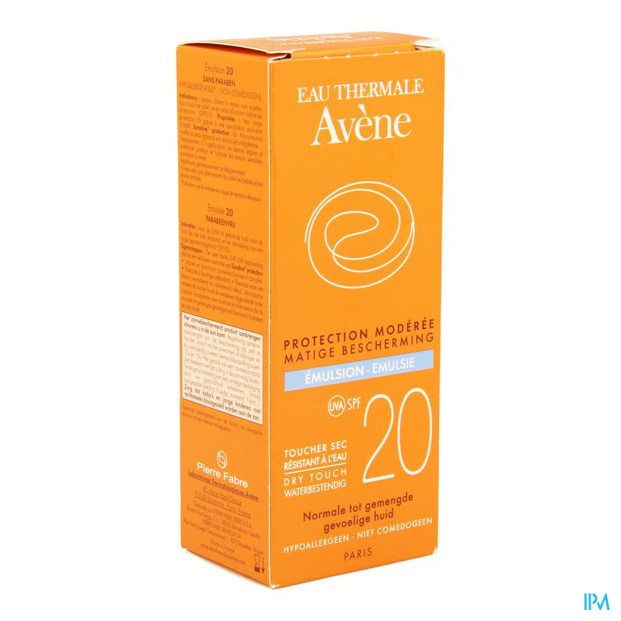 Avene Sol Emulsion Ip20 S/paraben 50ml