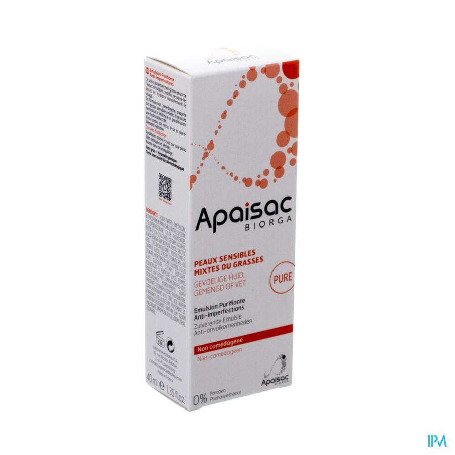 Apaisac Biorga Emulsion Purifiante A/imperf. 40ml