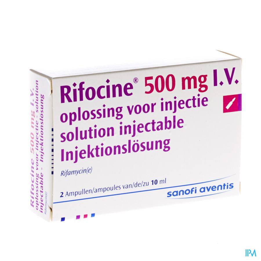 Rifocine Amp Iv 2 X 500mg/10ml