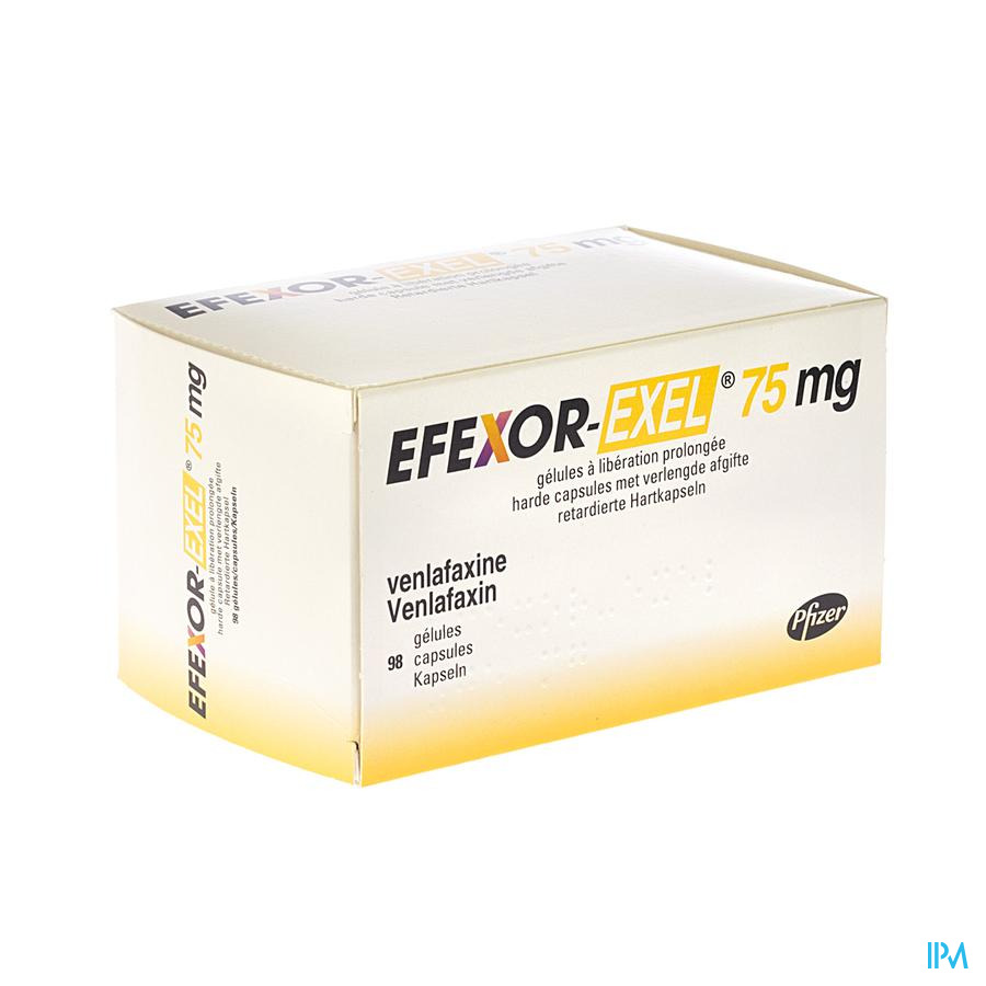 Efexor Exel 75mg Caps Verl Werking 98 X 75mg