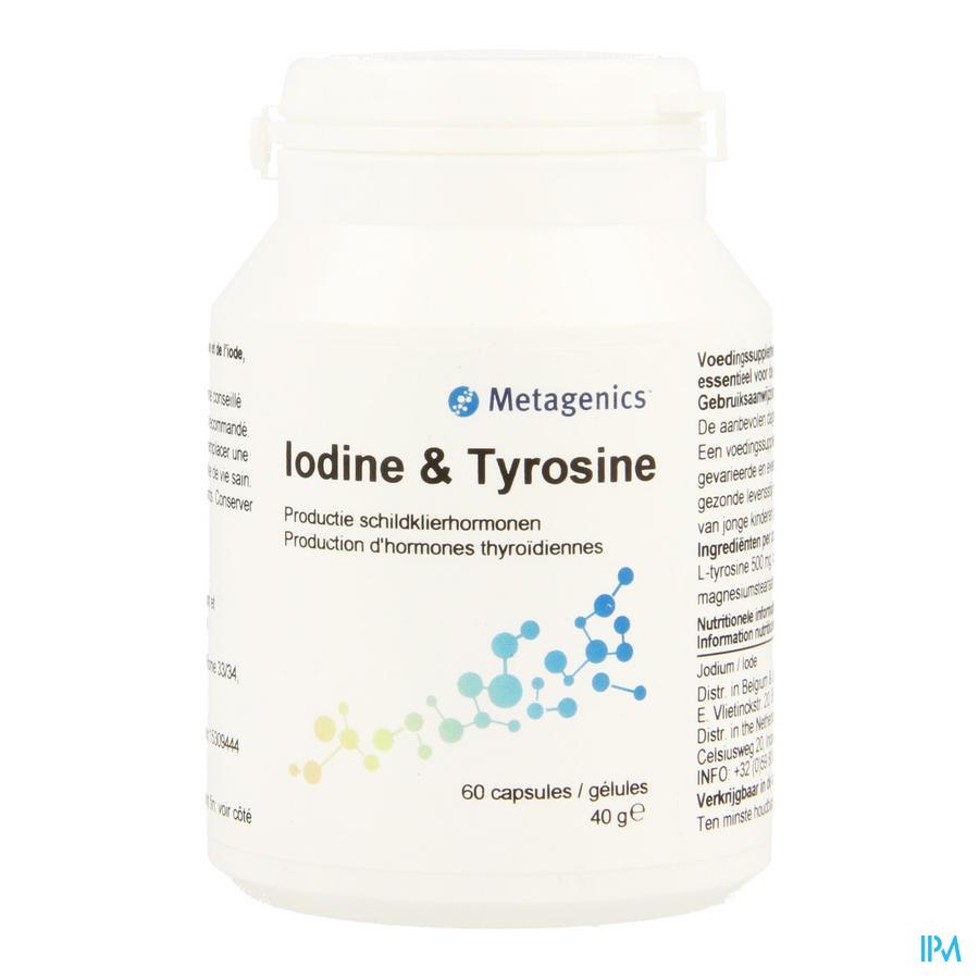 Iodine & Tyrosine Caps 60 87 Metagenics