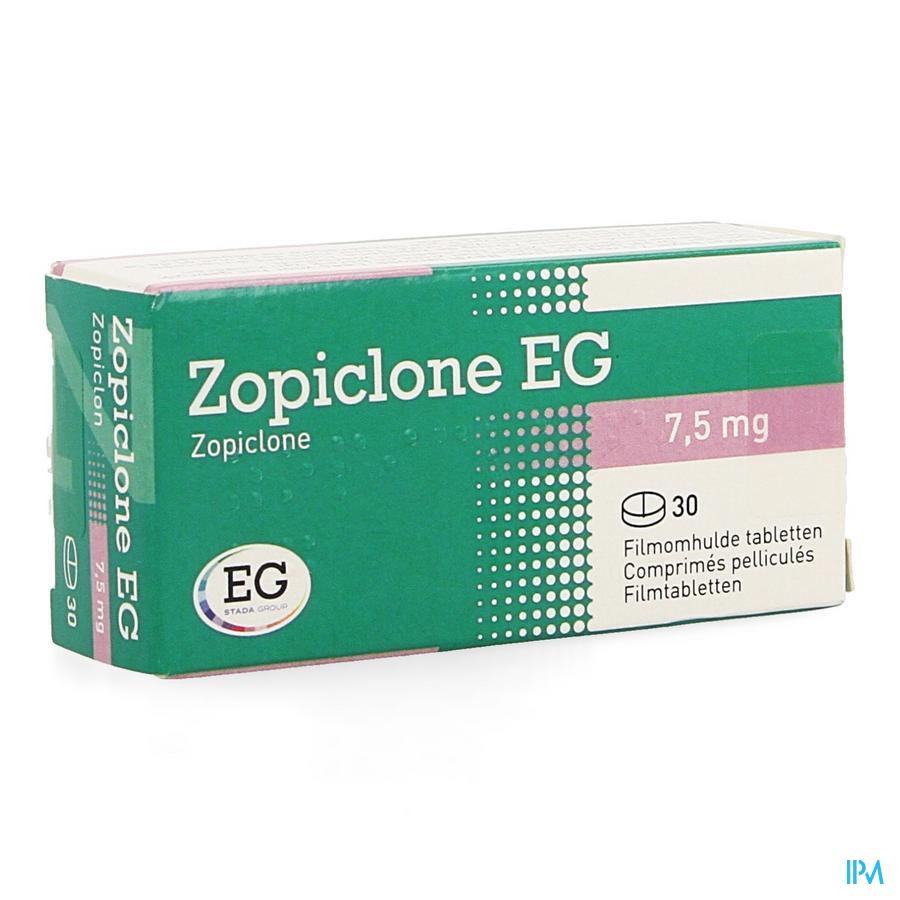 Zopiclone Eg Comp Enrob 30 X 7,5mg