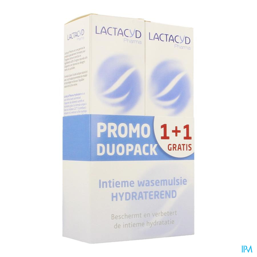 Lactacyd Pharma Hydraterend 2x250ml 1+1