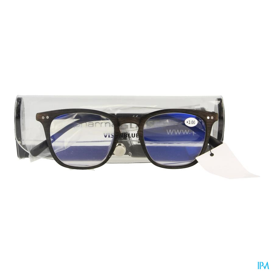 Pharmaglasses Visionblue Pc02 Leesbril +3.00 Brown