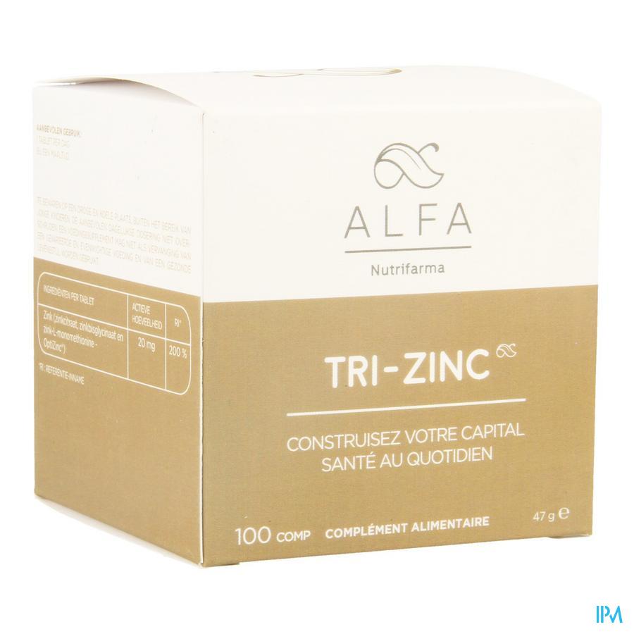 Alfa Tri-zinc 20mg Comp 100