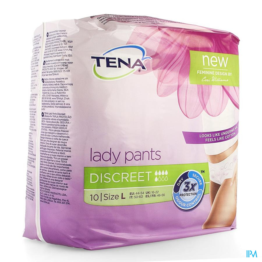 Tena Lady Pants Discreet Large 10 795610