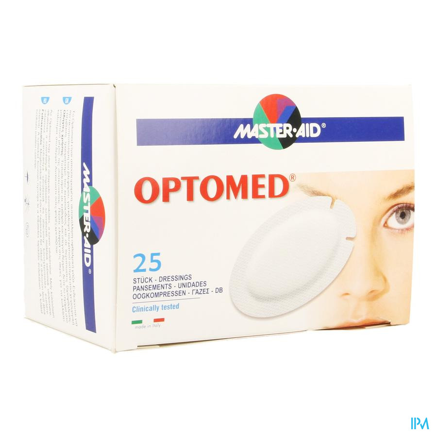 Optomed Cp Oculaire Adh S/latex 96x66mm 25 70119