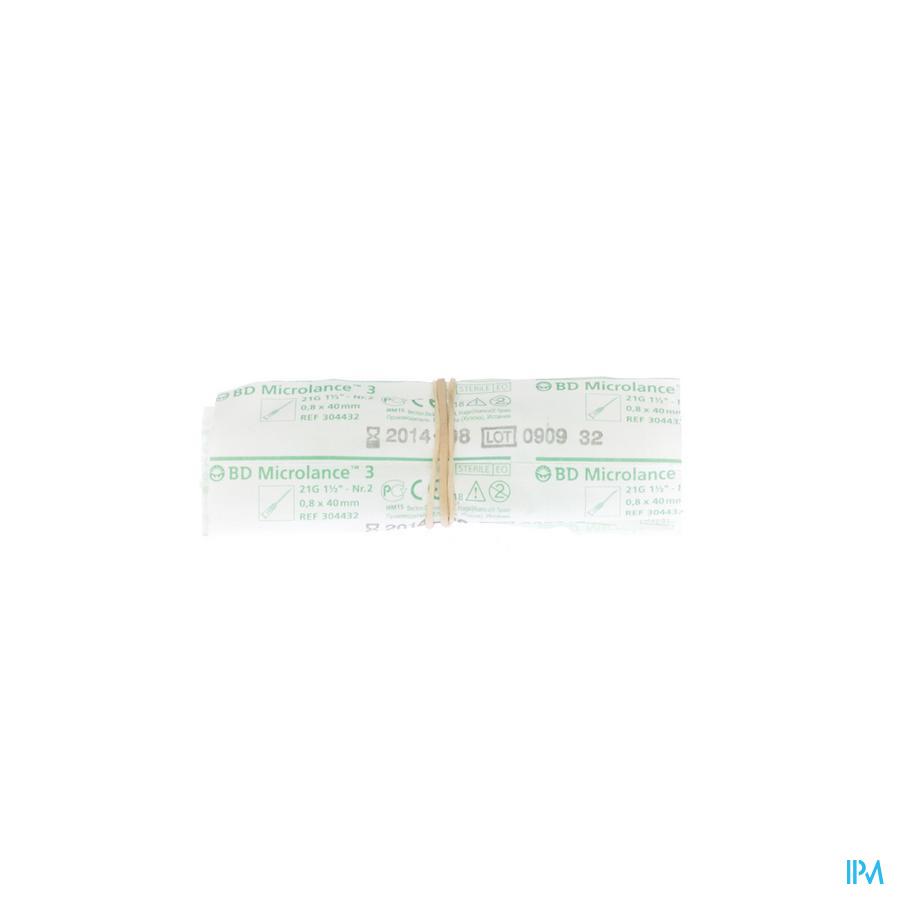 Bd Microlance 3 Nld 21g 1 1/2 Rb 0,8x40mm Groen 10