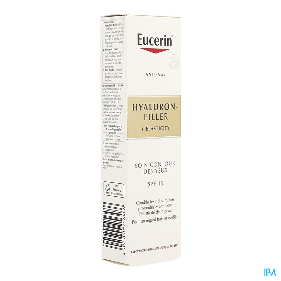 Eucerin Hyaluron Filler+elast. Cont.yeux Ip15 15ml