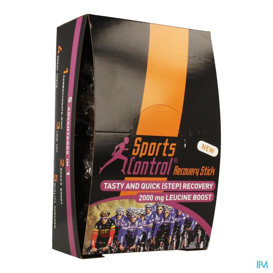 Sportscontrol Recovery Stick Leucine Chocolade 28