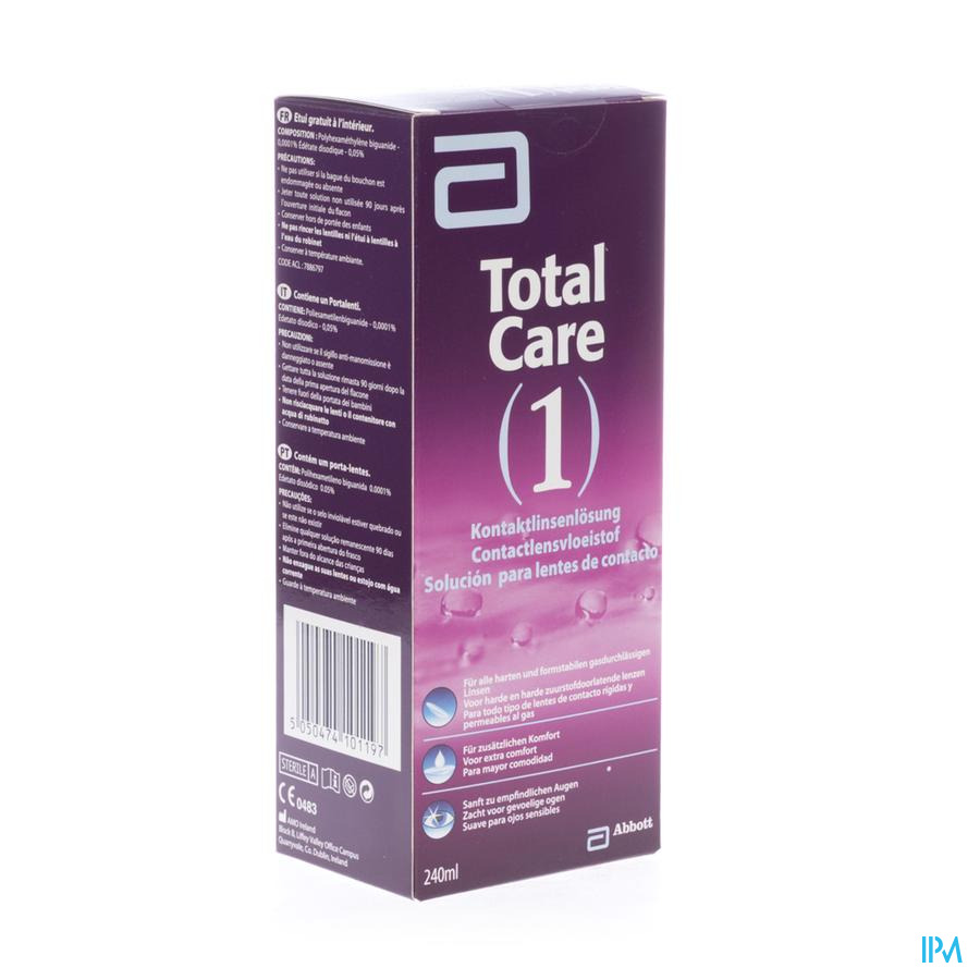Total Care 1 All-in-one Harde Lens 240 ml+lenscase
