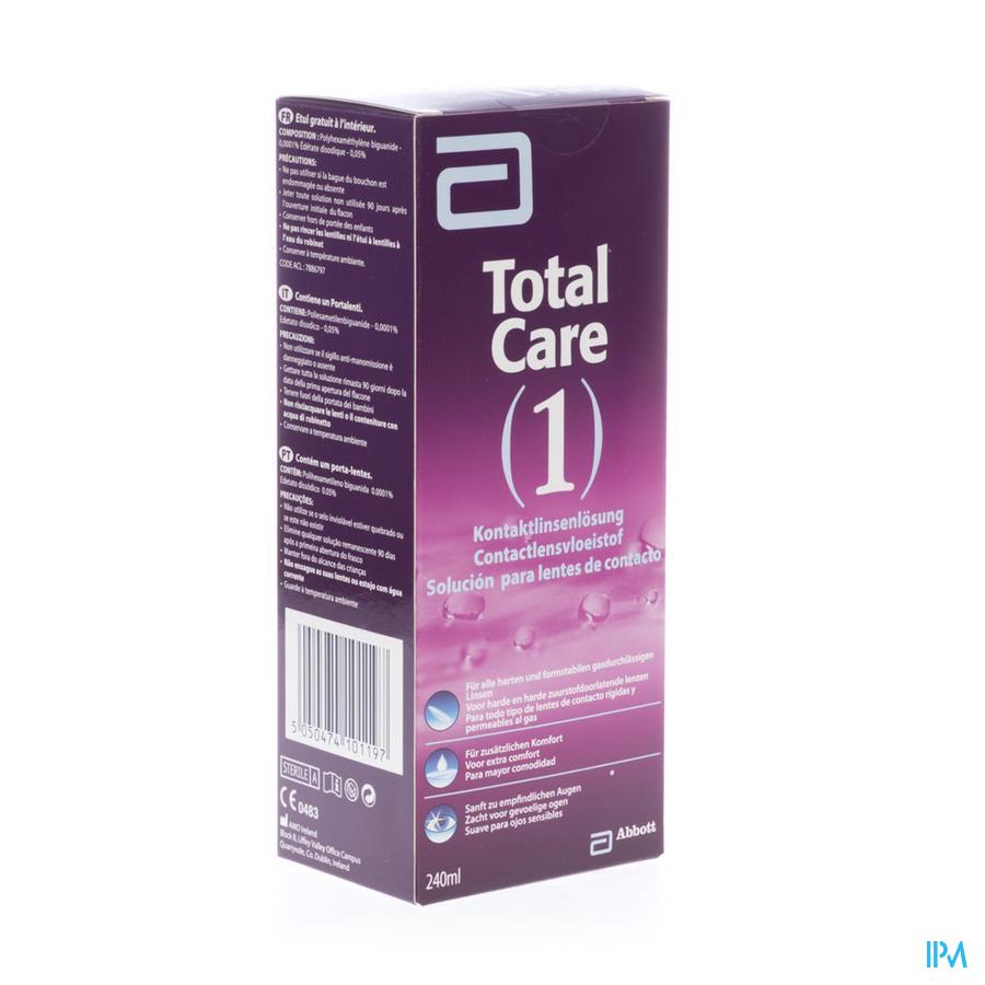 Total Care 1 All-in-one Harde Lens 240ml+lenscase kopen doe je voordelig hier
