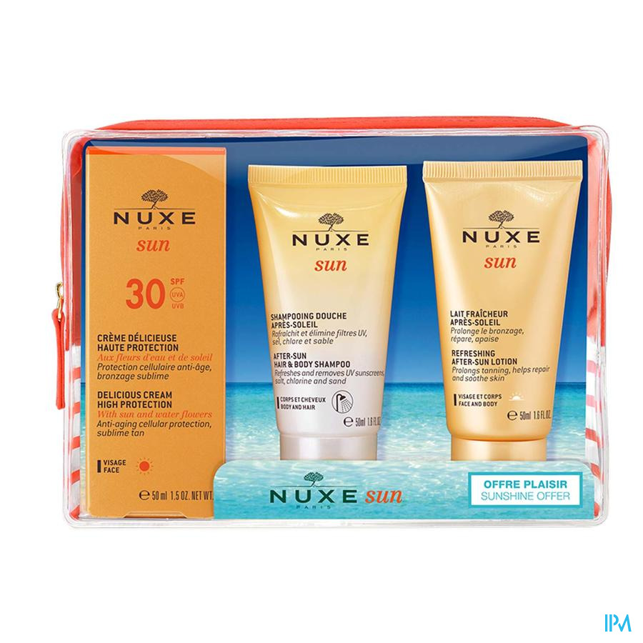 Nuxe Sun Trousse Ip30 Visage 50ml + Mini 2x50ml