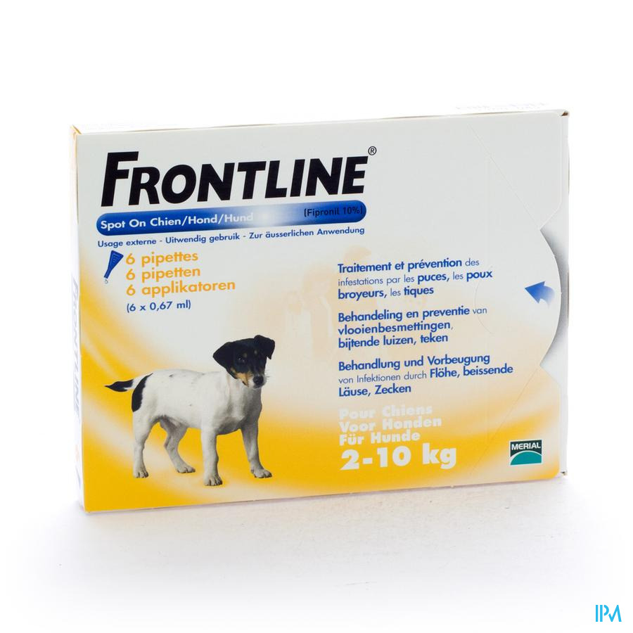 FRONTLINE SPOT ON HOND     PIPET 6X0,67ML
