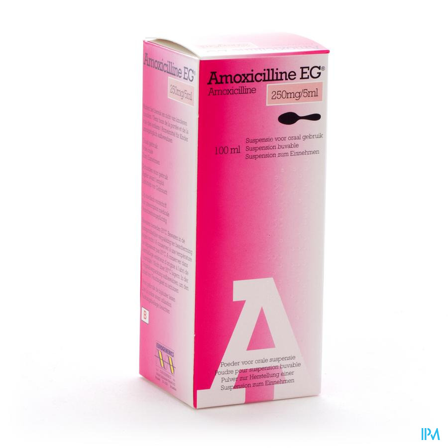 Amoxicilline Eg Sir 100ml 250mg/5ml
