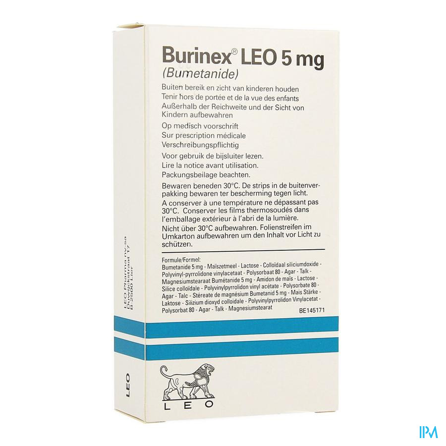 Burinex Leo Comp 20 X 5mg