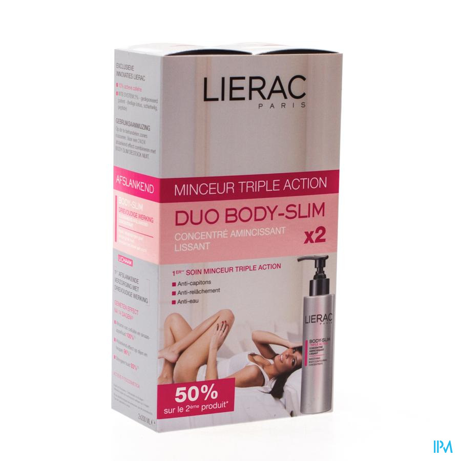 LIERAC BODYSLIM CONC.MULTI ACTION   POMPFL 2X200ML