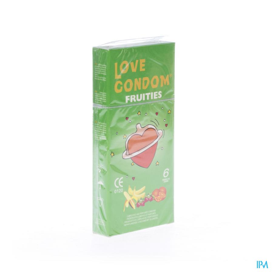 LOVE CONDOM FRUITIES CONDOOMS PARF GLIJMIDDEL 6