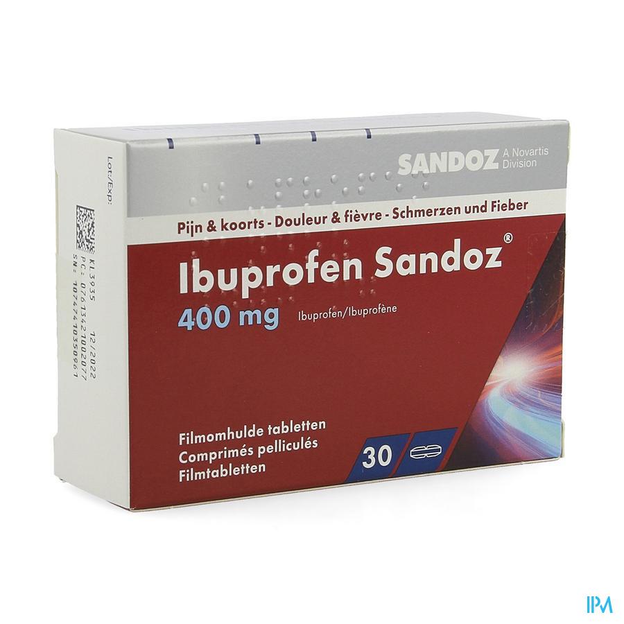 Ibuprofen Sandoz 400mg Comp Pell 30x400mg