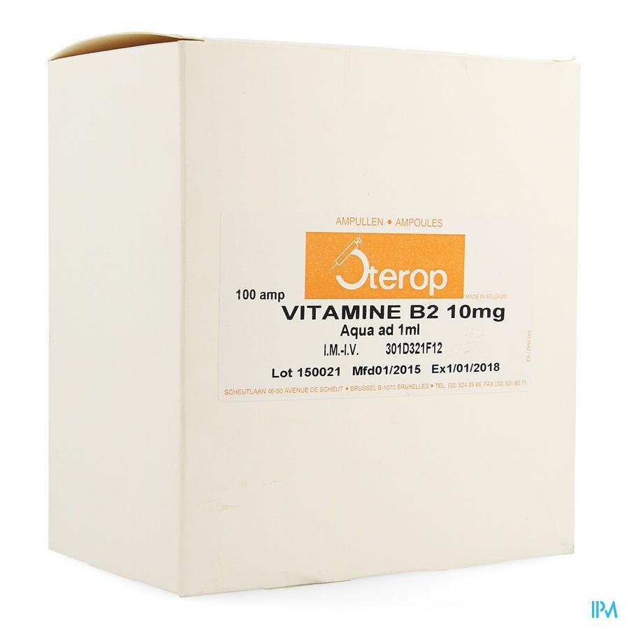 Vit B2 Im/iv Amp 100 X 10mg/1ml