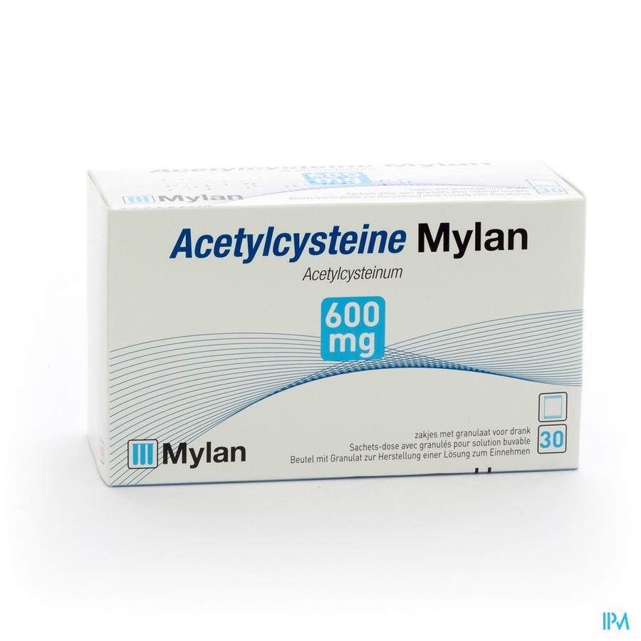Acetylcysteine Mylan Sach 30 X 600mg