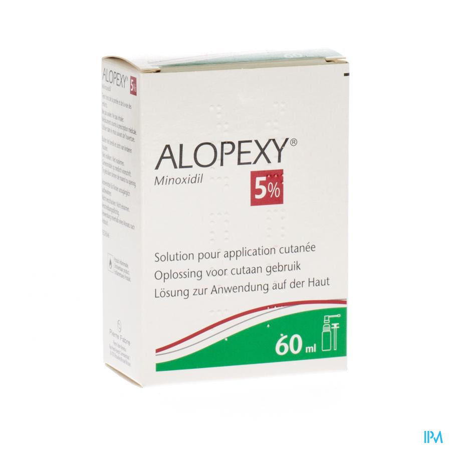 Alopexy 5 % Liquid Fl Plast Pipette 1x60ml