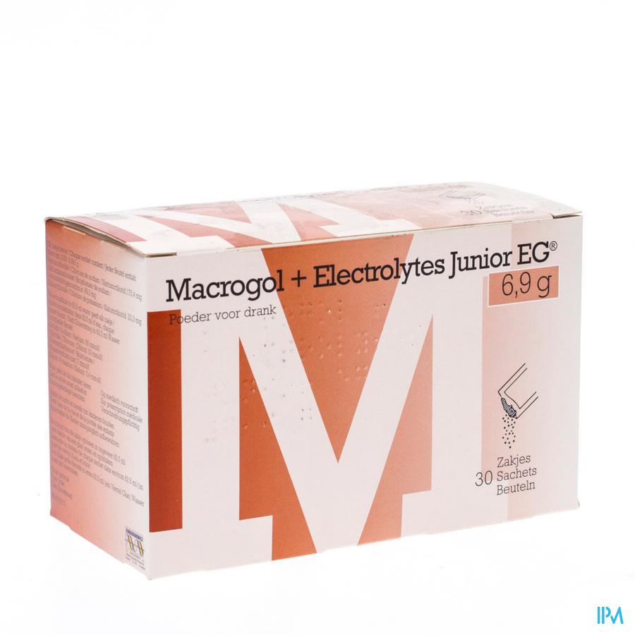 Macrogol+electrolytes Junior Eg 6,9g Pdr Sach 30