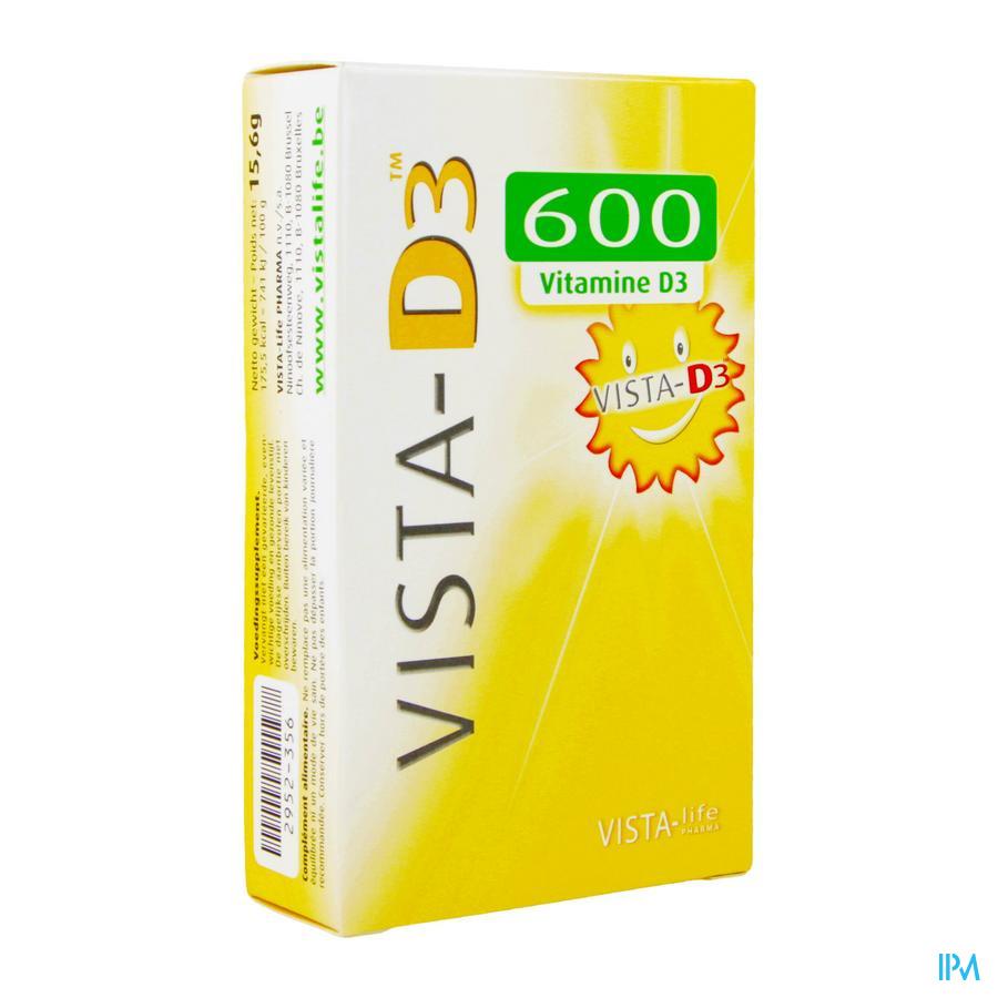 Vista D3 600 Adult Smelttabletten 120 Verv.2698108