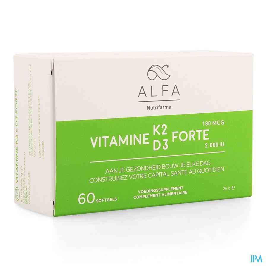 Alfa Vitamine K2 D3 Forte Softgel 60