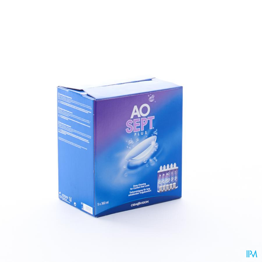 Aosept Plus 6 Maandpack 5x360ml
