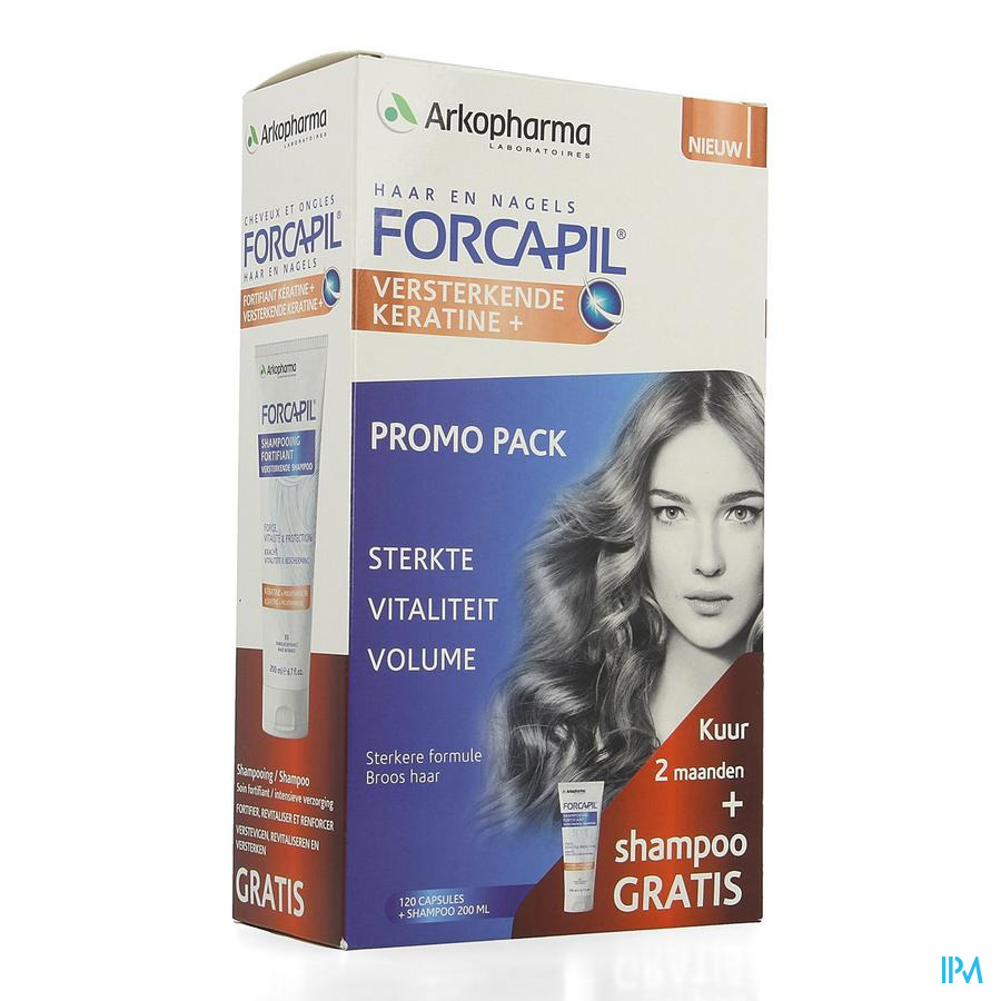 Forcapil Ontdekkingspack Caps 2x60+sh 200ml Grat.