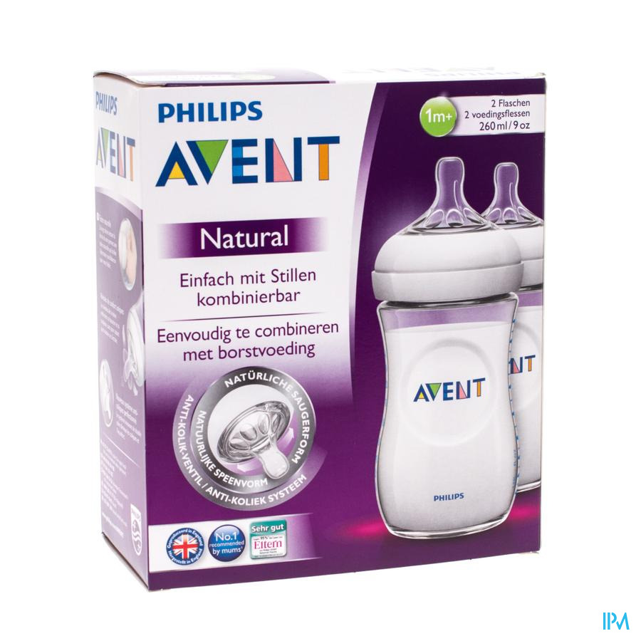 AVENT ZUIGFLES 260ml DUO
