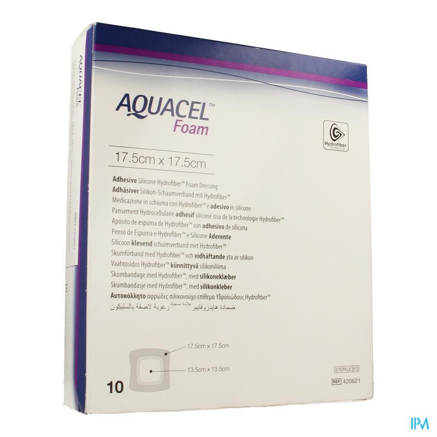 Aquacel Pans Mousse Adh Hydrofiber 17,5x17,5cm 10