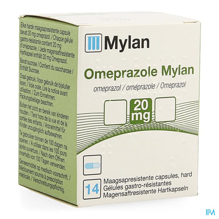 Omeprazol Mylan Caps 14 X 20mg