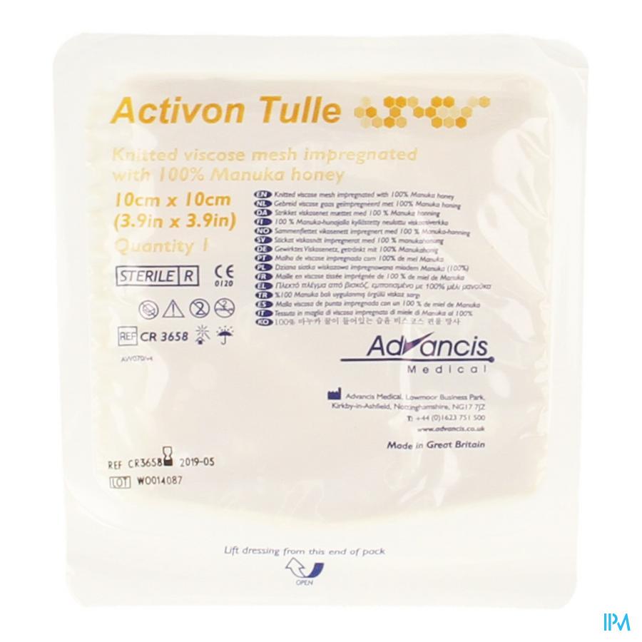 Activon Tulle Pans N/adh 10x10cm 1