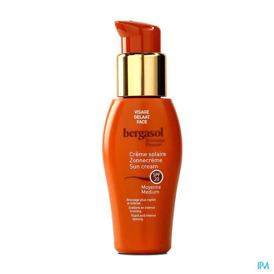 Bergasol Creme Gelaat Ip20 Nf 50ml Verv.2078004