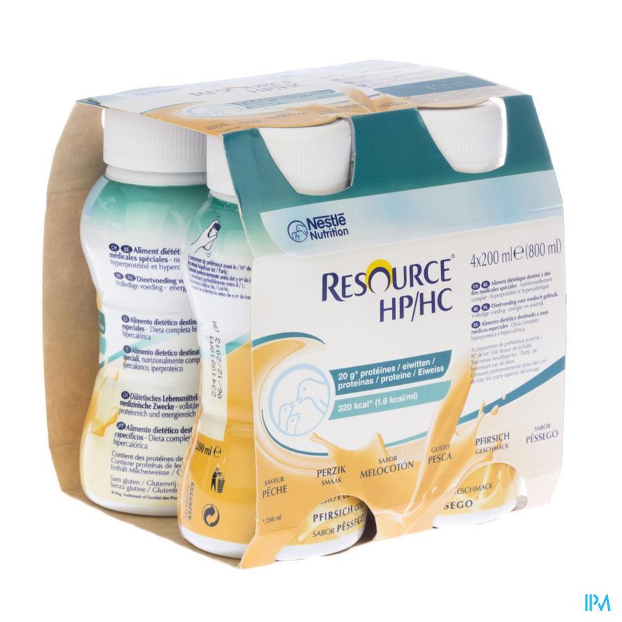 Resource Hp Hc Perzik Fles 4x200 ml