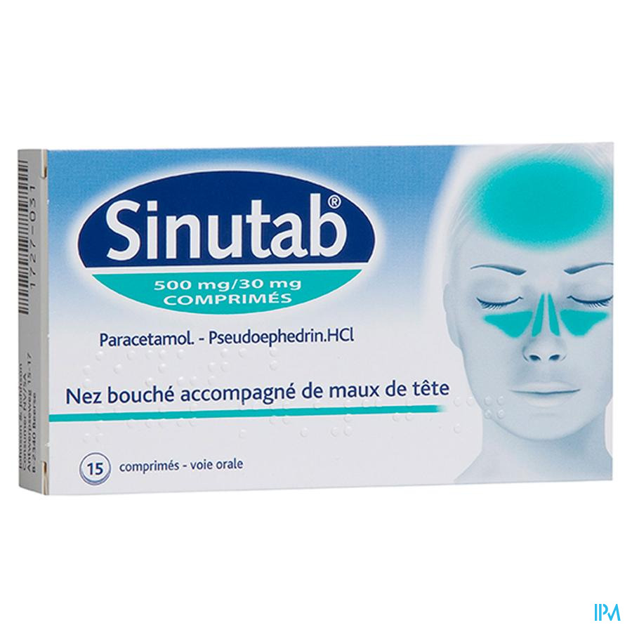 Sinutab 500/30 mg Tabletten 15