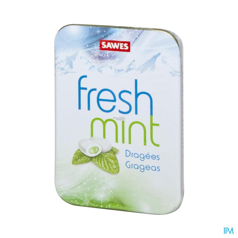 Sawes Drageeees Fresh Mint Doosje 20 gr Saw015