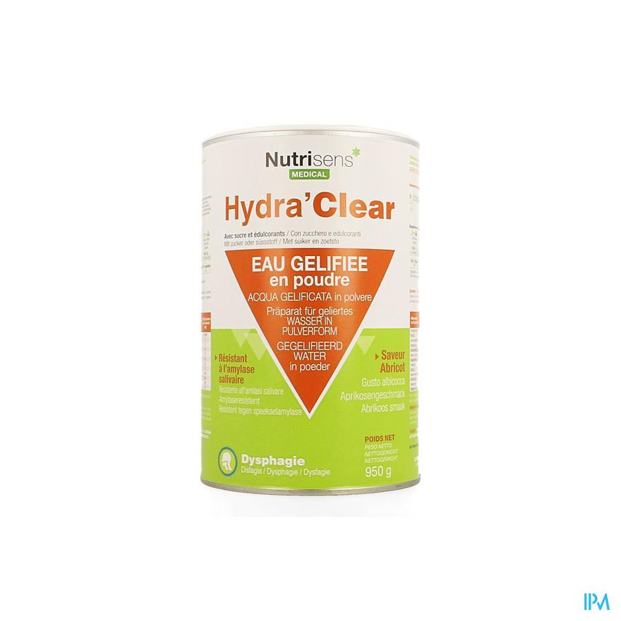 Hydra Clear Sucre Edulcorants Abricot 950g