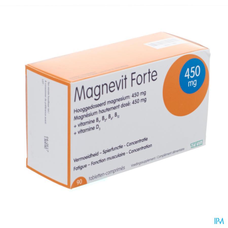 Magnevit Forte 450mg Tabl 90