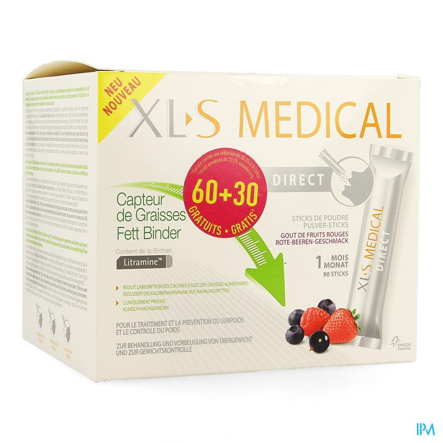 Xls Med. Capt.de Graisses Stick 60 + 30 Gratuit