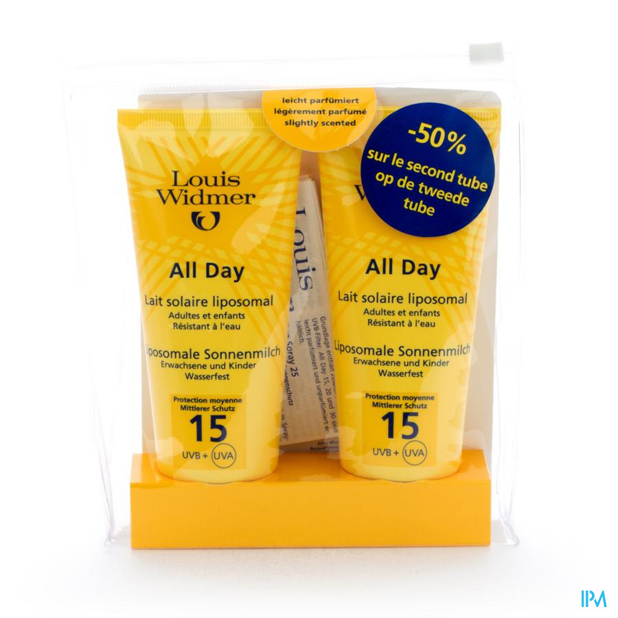 Widmer Sun All Day 15 Parf Nf Tube 2x100ml