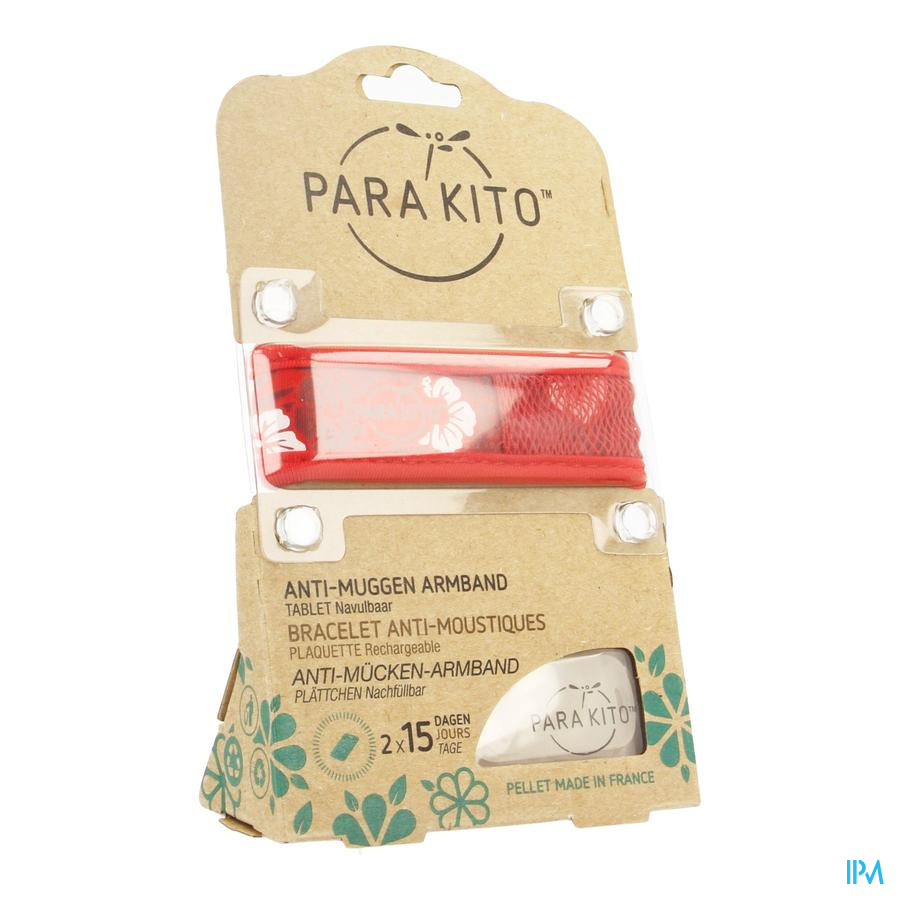 Para'kito Wristband Graffic Jun&trop Hawai Red