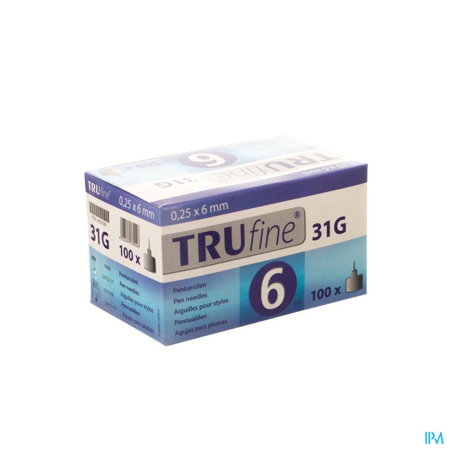 Trufine Aig.stylos 31g 0,25x 6mm 100 76002